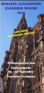 Francfort Semaine Alsacienne 16 - 20 sept 2015 cathérale