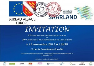 Belgique Bureau Alsace 25e anniversaire 18 novembre 2015