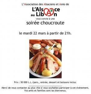 Liban Choucroute 22 mars 2016