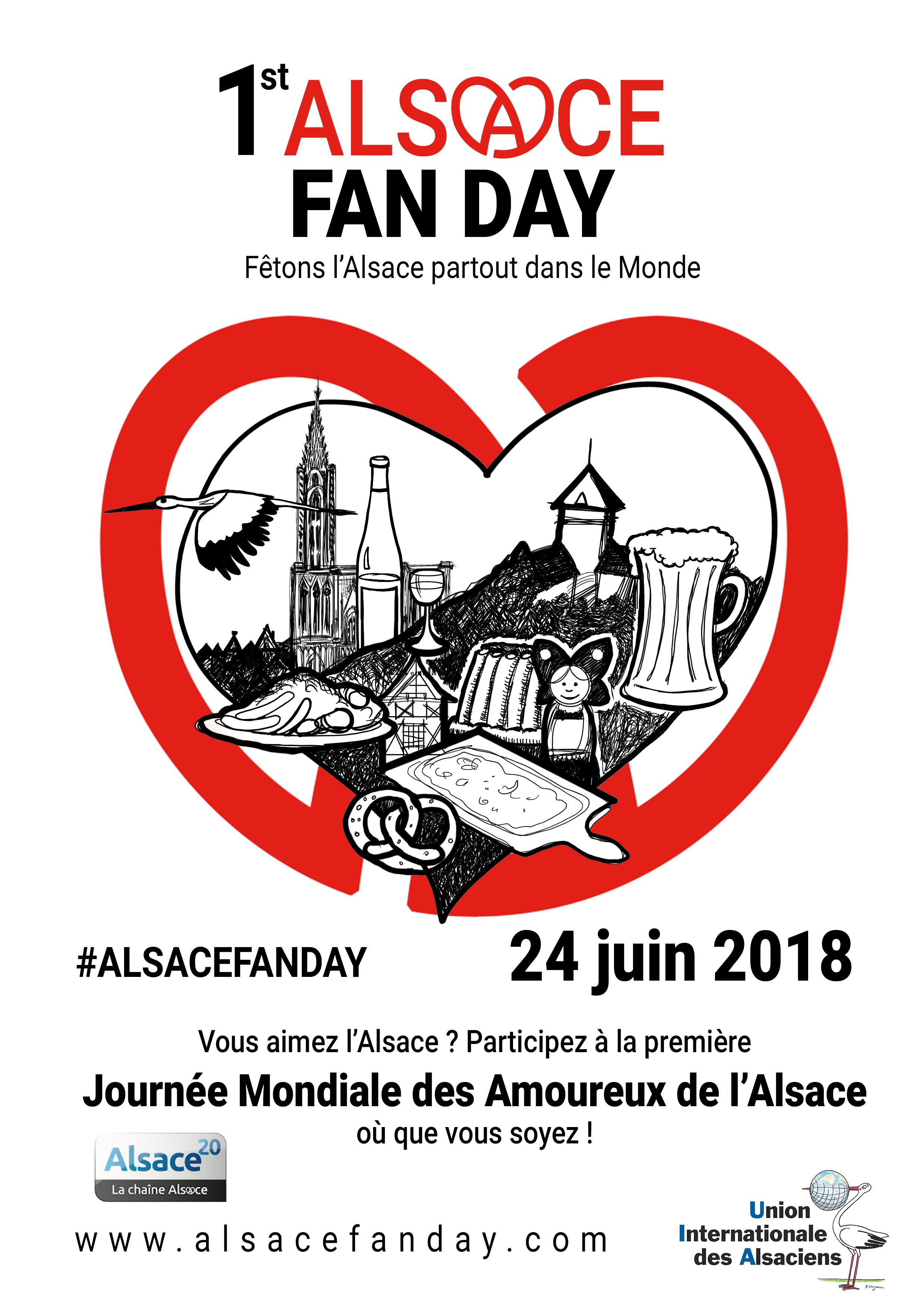 24 juin 2018 : 1st Alsace Fan Day – 1ère Journée Mondiale des Amoureux de l'Alsace