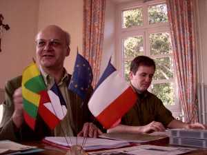 Alsace Lituanie - Philippe Edel Président et Christian Bohrer secrétaire