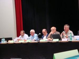Réunion des présidents 24 août 2012 Pfaffenhoffen René Guth JM Ditner F Brunage PH Edel G Staedel