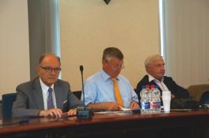 Assemblée générale du 24 août 2013 à Ensisheim, Francois Brunagel, Gérard Staedel et Jean-Michel Ditner