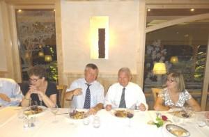 Comité directeur du 23 aout 2013 à Ensisheim, le président Gérard Staedel et le sénateur André Ferrand