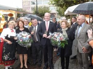 Francfort semaine Alsacienne, le 11 09 2013 Malou Elter, Marie-Reine Fischer, Chr. Walgenwitz, G. Steadel, Uwe Becker, S. Laszlo et André Fricker