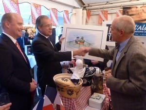 Francfort semaine Alsacienne, le 11 09 2013 Uwe Becker, Maurice Gourdault-Montagne, André Fricker