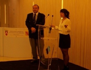AGAL Paris, 20.04.16, remise de bourse, René Guth, Anne-Sophie Schimpf 3