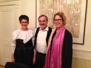 AAQR Quebec, 10.01.17, lancement, Isabelle Zenner, René Vogel, Laurence Haguenauer Consul de France